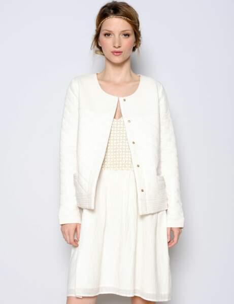 Robe blanche : craquante