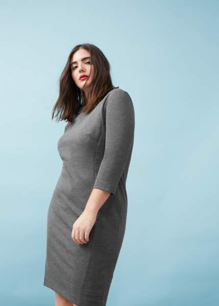 Mode grande taille : gris chiné