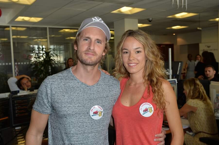 """Philippe Lacheau et sa compagne Elodie Fontan à la 12ème édition du """"BGC Charity Day"""" le 12 septembre 2016."""