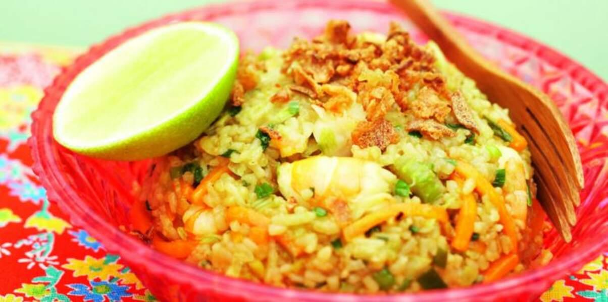 Nasi goreng de Fred Chesneau (riz sauté à l'indonésienne)
