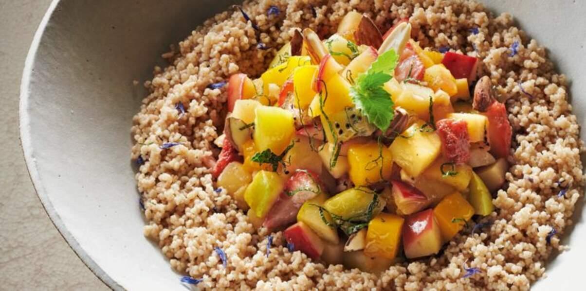 Couscous de Kamut tiède aux fruits