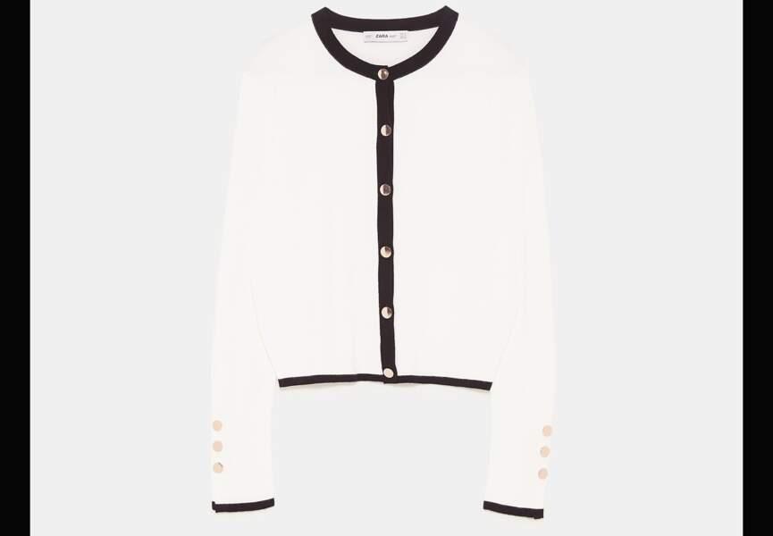 Nouveautés Zara: le gilet bicolore