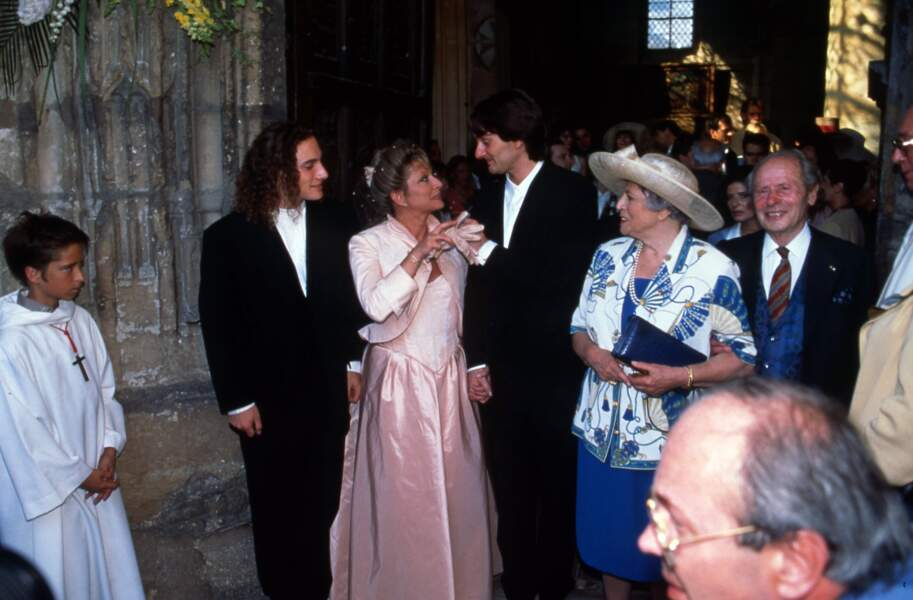 Mariage de Véronique Sanson et de Pierre Palmade, le 11 juin 1995, à Triel-sur-Seine.
