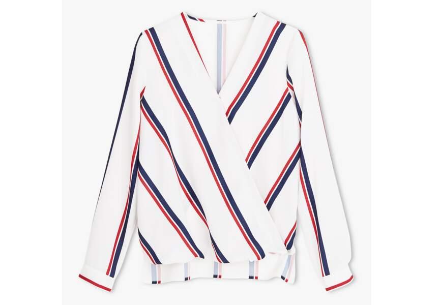 Bleu blanc rouge: la blouse fluide
