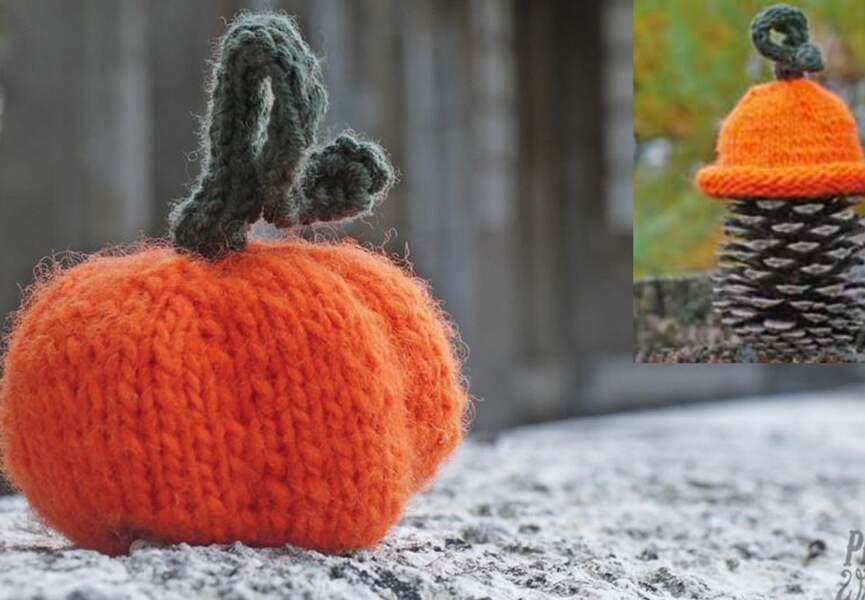 Une citrouille en tricot