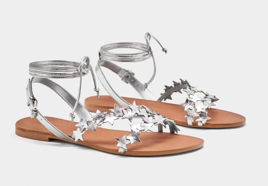 Nouveautés Zara: les nu-pieds argent