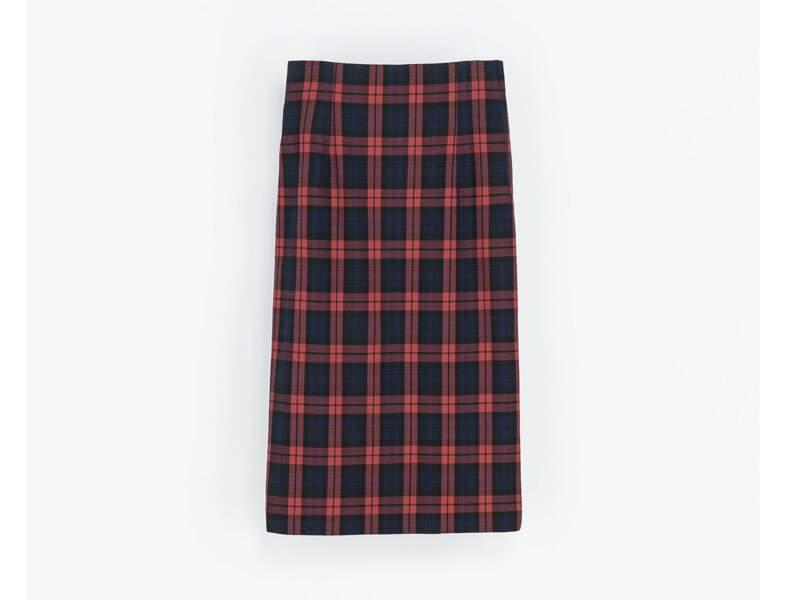 La jupe tartan par Zara