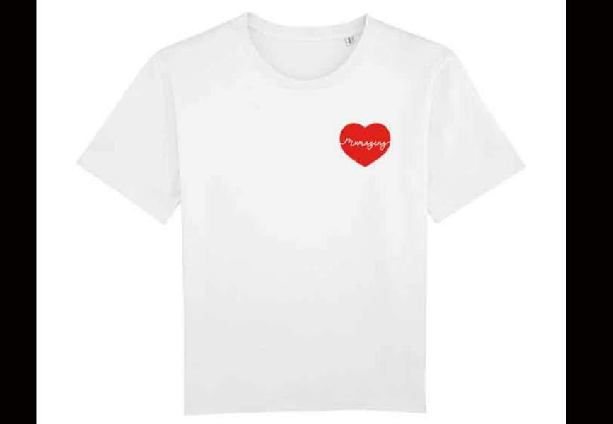 Tee-shirt au grand coeur