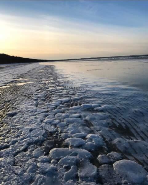 A Tallin, en Estonie, les bords de la mer Baltique sont complètement glacés