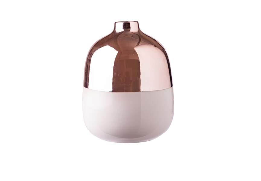 Vase bi-matière
