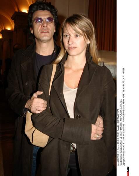 Marc Lavoine et Sarah Poniatowski, 2003