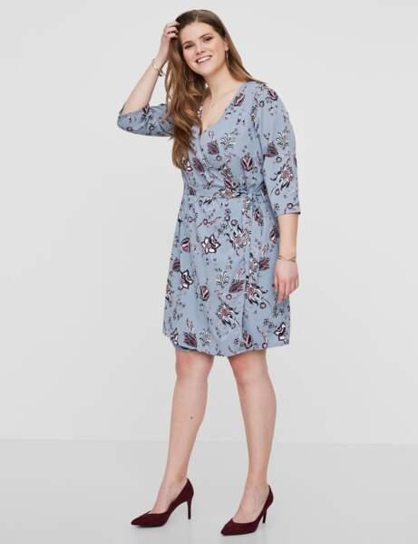 Mode grande taille : la robe portefeuille imprimée