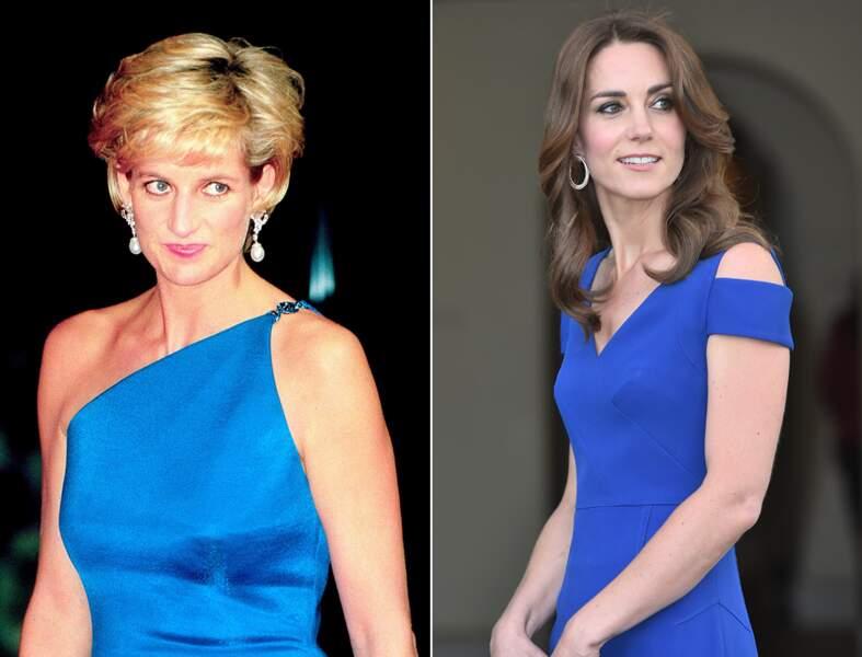 ...soirée chic en robe bleu outremer...