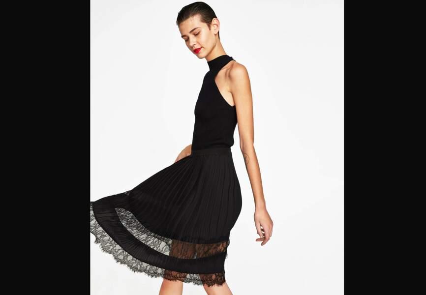 Nouveautés Zara: la jupe plissée