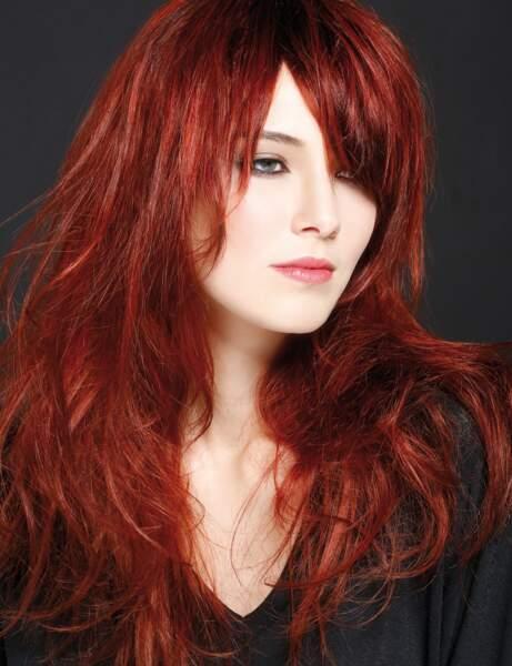 Les cheveux roux intense