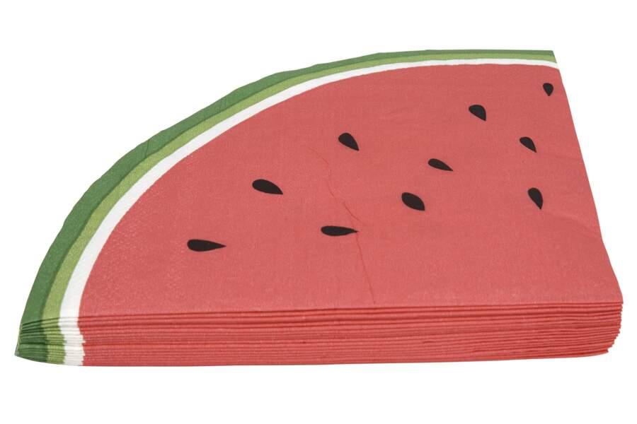 Des serviettes en papier pastèque