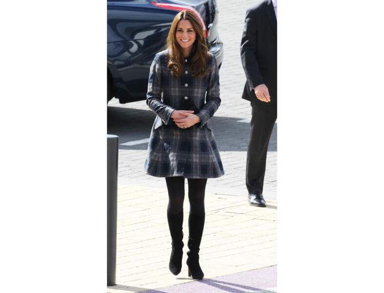 Le manteau tartan par Kate Middleton
