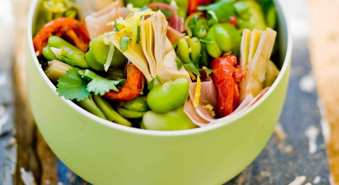 Salade de fèves à l'italienne