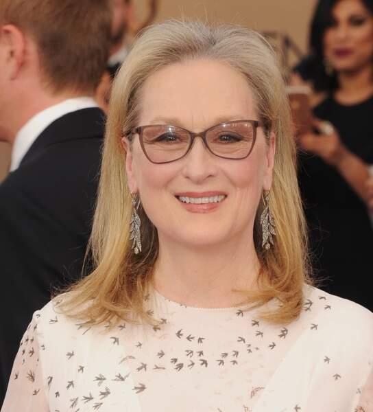 Les joues rosées de Meryl Streep