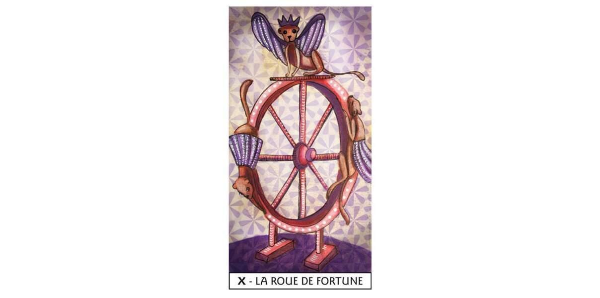 Lame 10 du Tarot des Mages : La Roue de Fortune