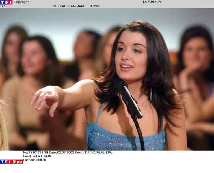 """Jenifer sur l'émission """"La Fureur"""" en 2002"""