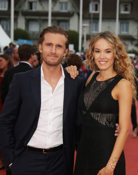 Philippe Lacheau et sa compagne Elodie Fontan au 42ème festival du cinéma américain de Deauville en septembre 2016.