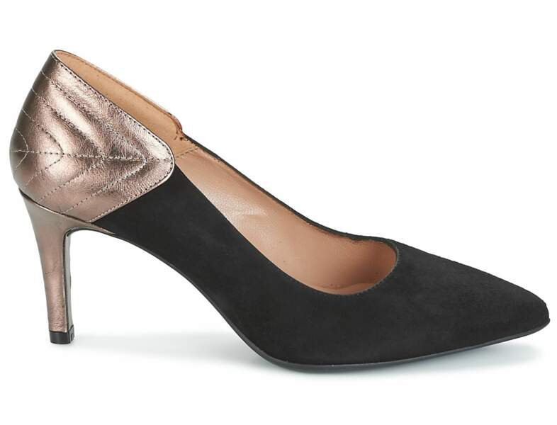 Chaussures de soirée : les escarpins à talon métallisés