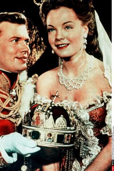Romy Schneider et Karlheinz Böhm, milieu des années 1950