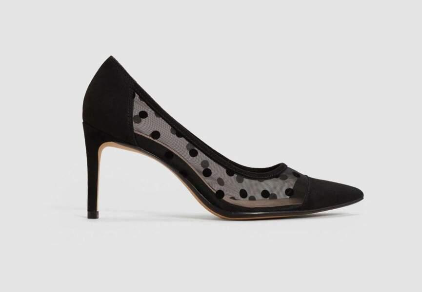 Chaussures de soirée : les escarpins plumetis