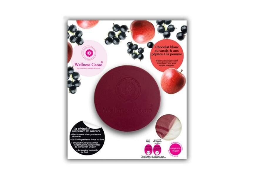 Une tablette de chocolat pomme/cassis