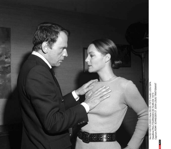Romy Schneider et Jean-Louis Trintignant, idylle dans les années 1970