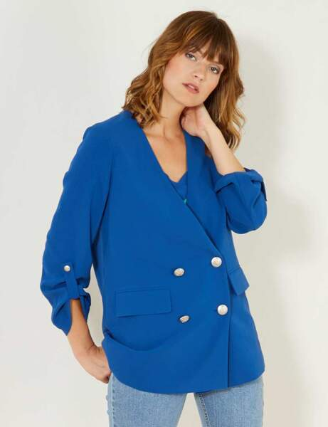 Blazer tendance: bleu