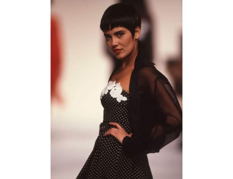Le mannequin Cristina Cordula en 1990, elle a 26 ans