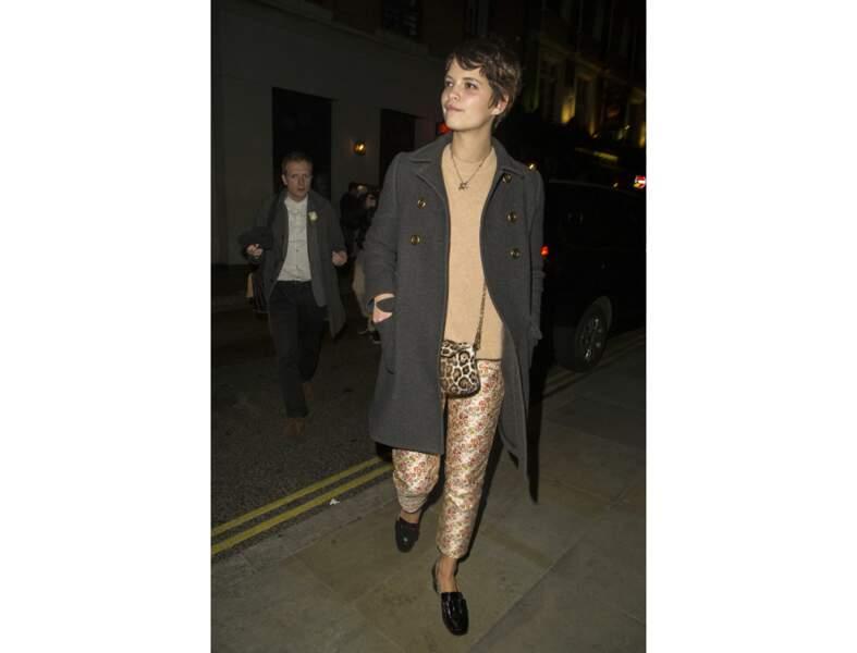 Pixie Geldof en chaussures plates