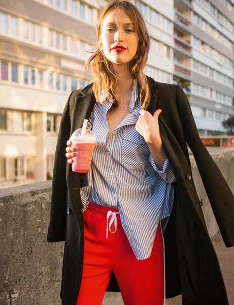 Rayures : le look mix and match