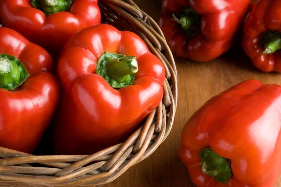 Le poivron rouge, concentré en vitamine C