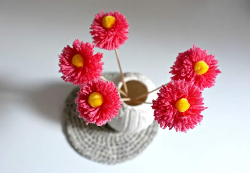 Des fleurs pompons