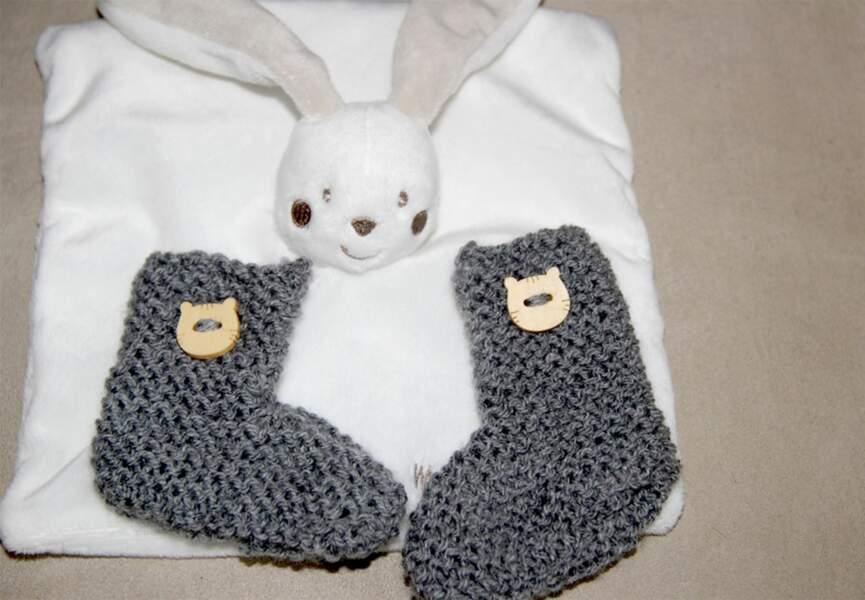 Des chaussons tricot
