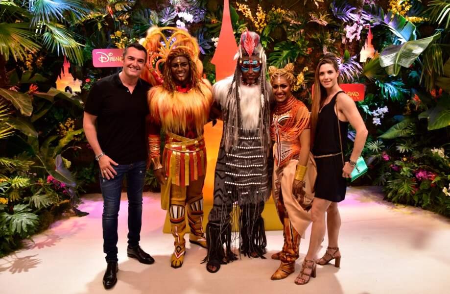 Arnaud Ducret fait honneur à la sortie du nouveau film Le Roi Lion à Disneyland Paris