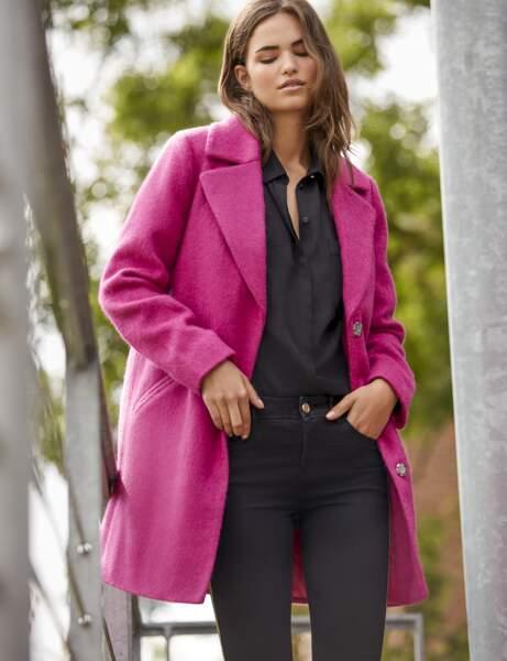 Le manteau fuchsia