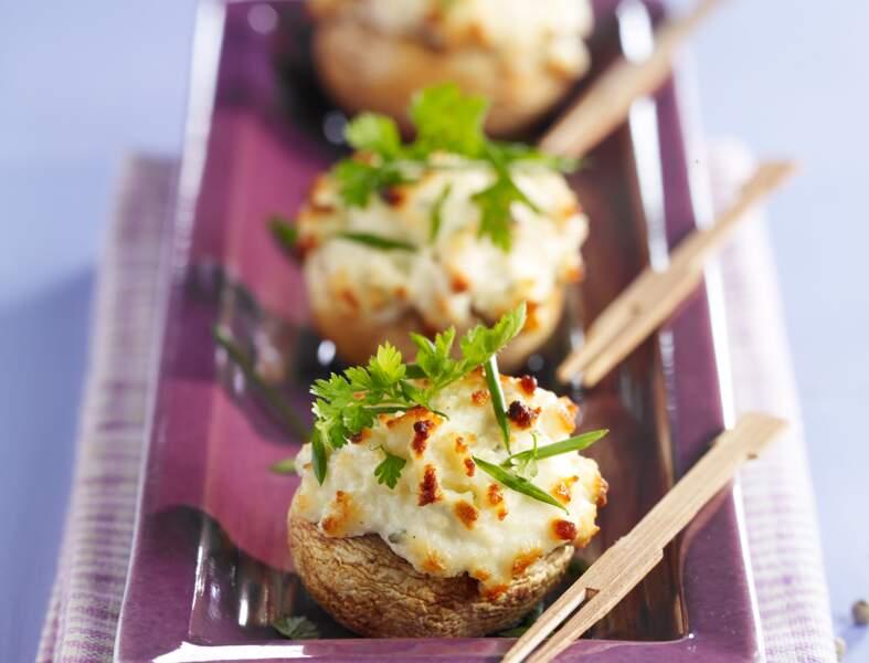 Champignons au fromage frais