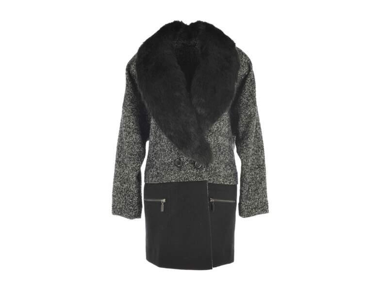Manteau bi-matière Derhy
