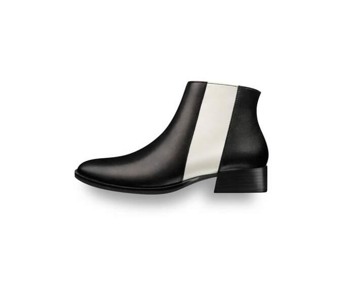 La boots bicolore