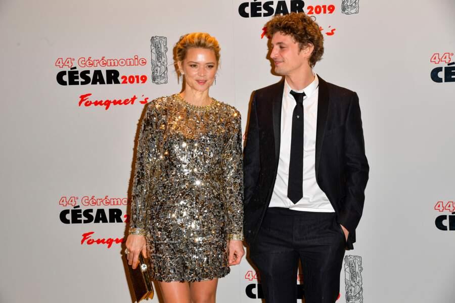 Virginie Efira et Niels Schneider lors du dîner de la 44ème cérémonie des César, à Paris le 22 février 2019