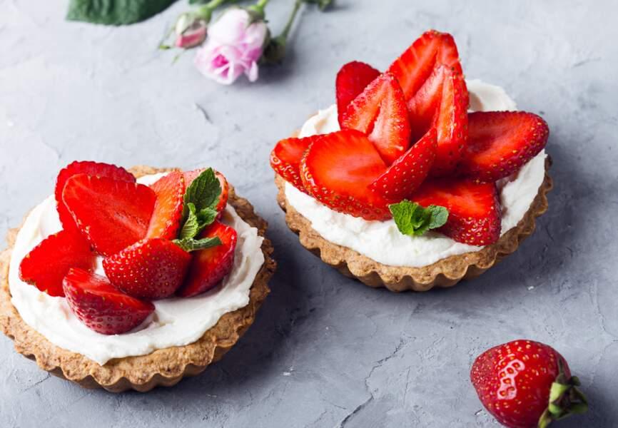 Tartelettes crues à la fraise