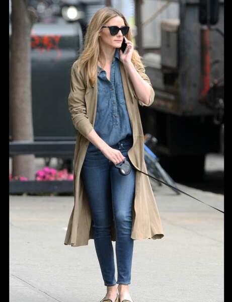 Olivia Palermo et sa chemise en jean