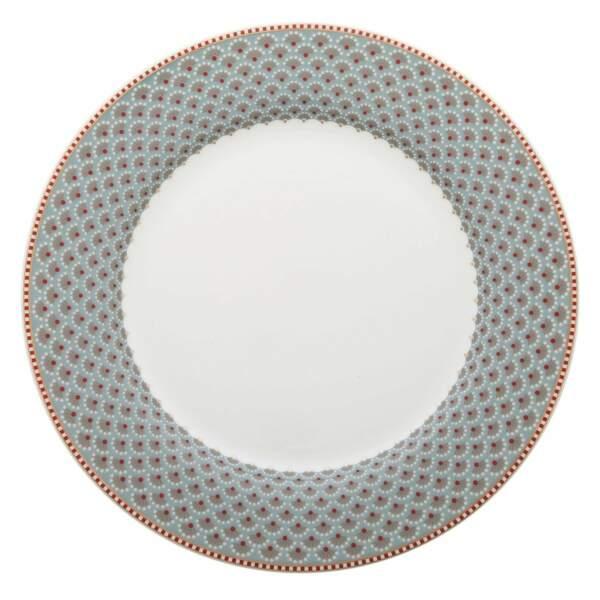 Assiette motif géométrique