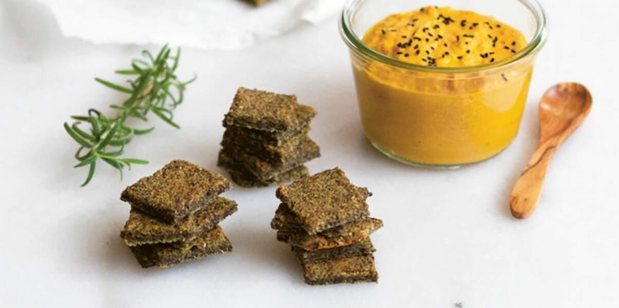 Crackers aux lentilles du Puy