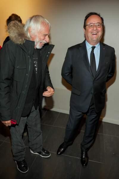 François Hollande et Pierre Richard en plein fou-rire