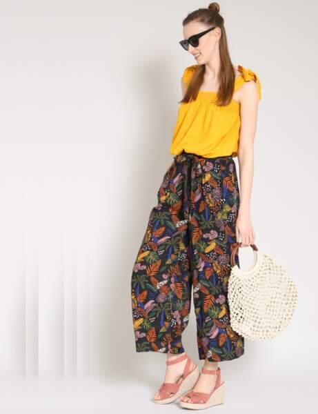 Pantalon : coloré
